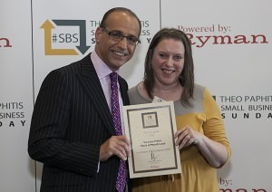 Veronica Pullen with Theo Paphitis - March 2012