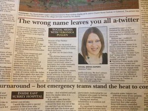 Veronica Pullen, Surrey Mirror column July 2013