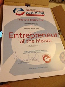 Veronica Pullen, Entrepreneur of the Month South Surrey Sept 13