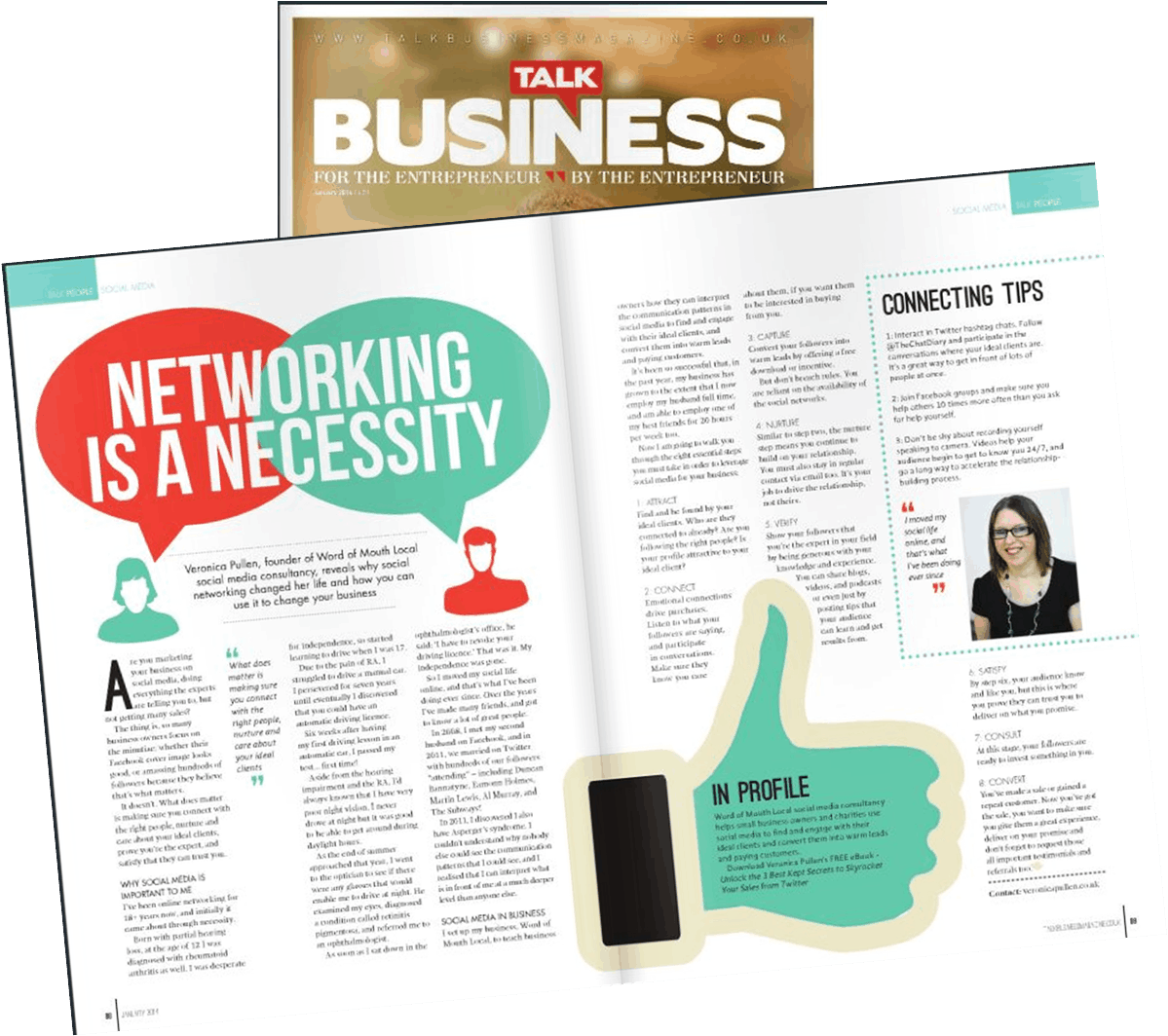 See Veronica Pullen in Talk Business Magazine   January 2014