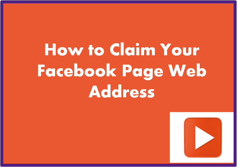 How To Claim Your Facebook Page Web Address