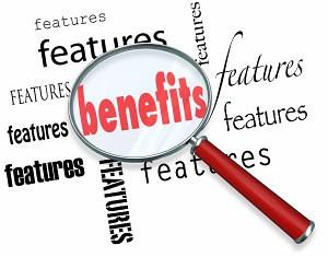 Features versus benefits