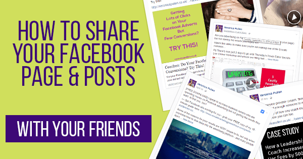 How to Share Your Facebook Page and Page Posts With Your Friends
