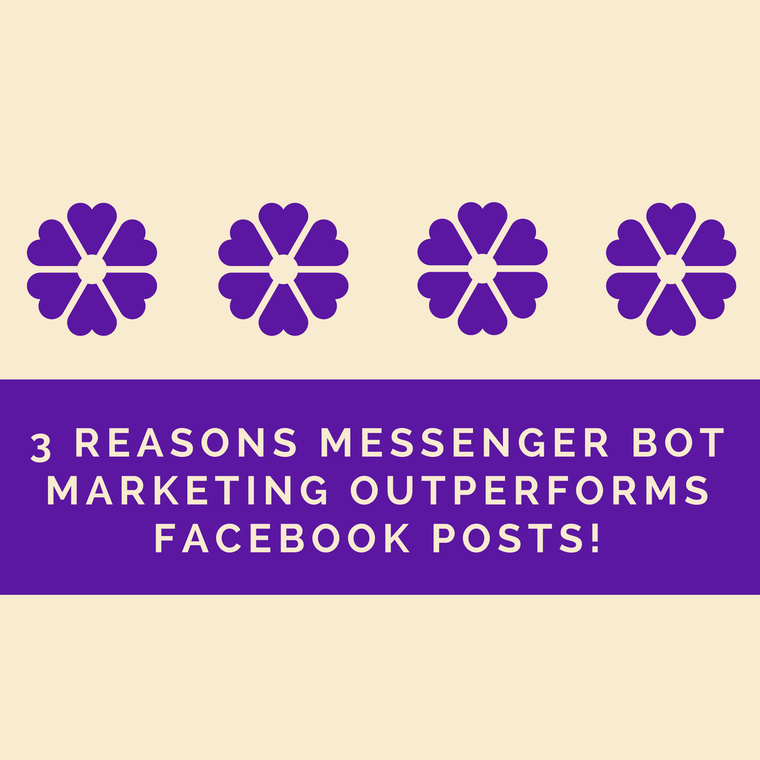 3 Reasons Messenger Bot Marketing Outperforms Facebook Posts