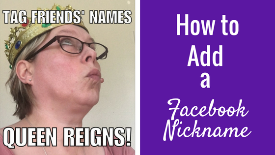Remind Your Friends of Your Business: Facebook Nickname