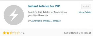 Facebook Instant Articles WordPress Plugin