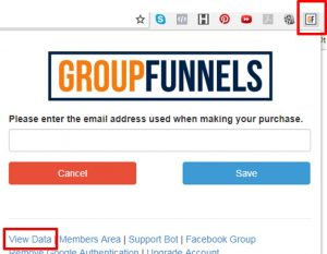 Group Funnels Chrome Extension Toolbar