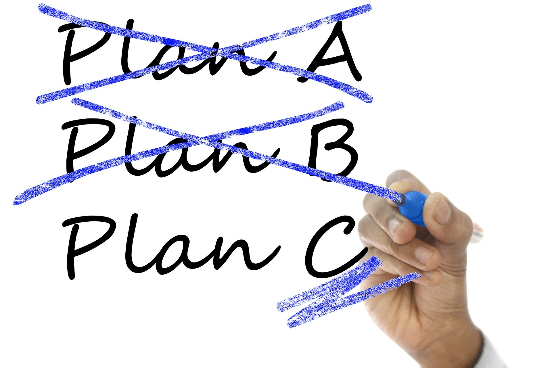 Having a plan B for the plan B!